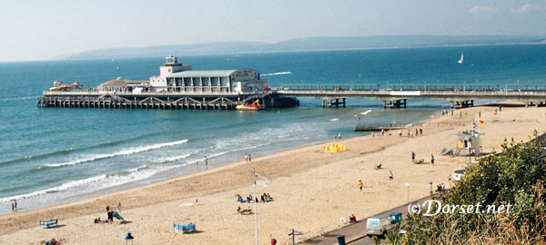 Bournemouth Pier and Beach view